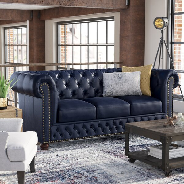 Forsyth Leather Chesterfield Sofa by Trent Austin Design