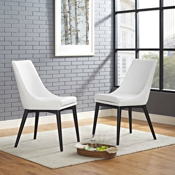 Minton Vinyl Dining Side Chair (Set of 2) by Wade Logan