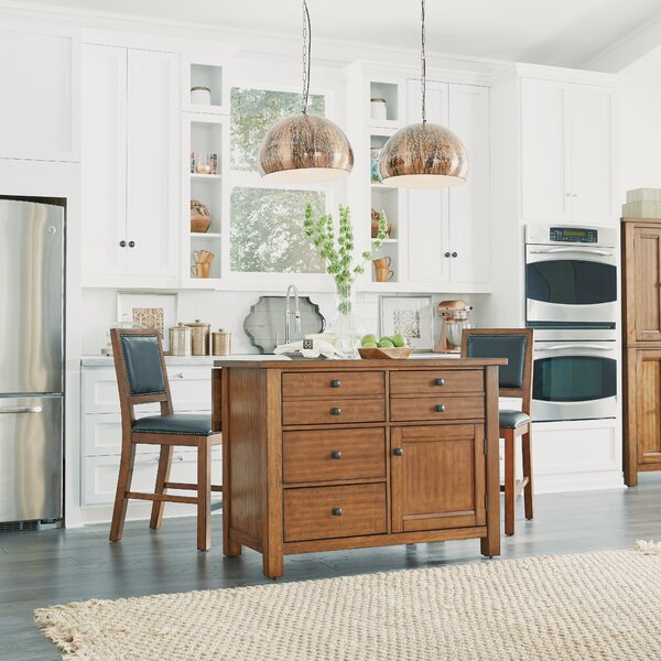 Rotherham Kitchen Island Set by Three Posts