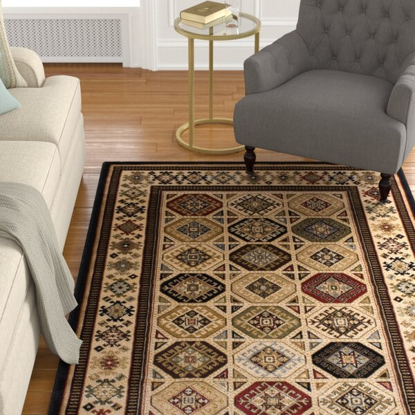 Gerace Brown/Ivory Area Rug by Charlton Home