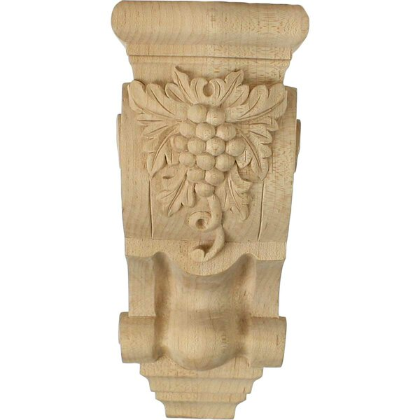 Grape Bunches 7 7/8H x 3 1/2W x 4 3/8D Small Corbel in Hard Maple by Ekena Millwork