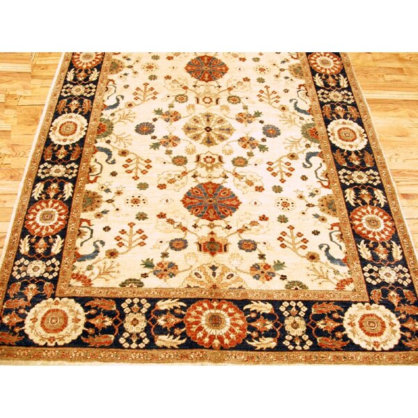 Sultanabad Hand-Knotted Ivory Area Rug by Pasargad