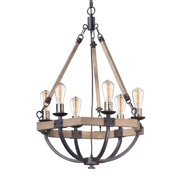 Killion 6-Light Candle Style Empire Chandelier by Breakwater Bay Breakwater Bay