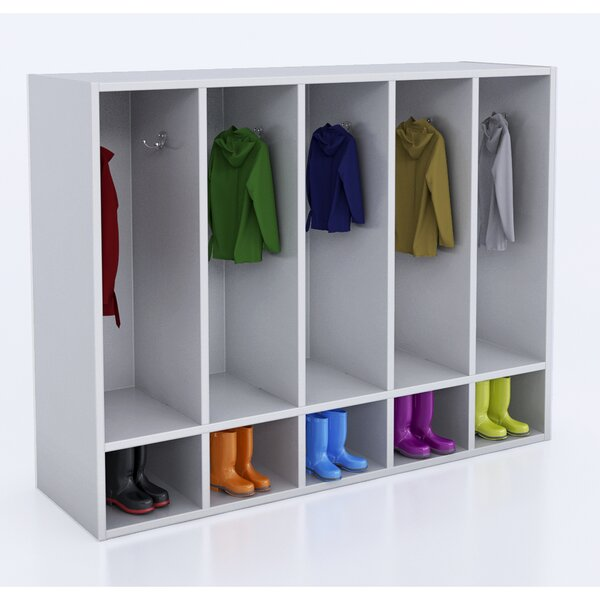 1 Tier 5 Wide Coat Locker by Whitney Brothers