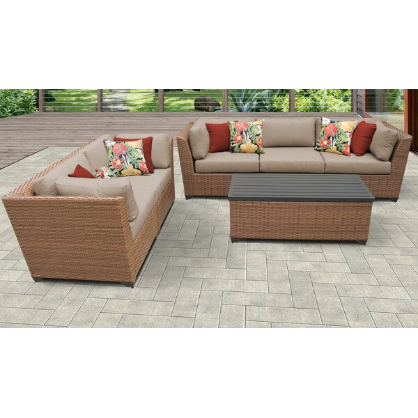 Medina 6 Piece Sofa Seating Group with Cushions by Rosecliff Heights