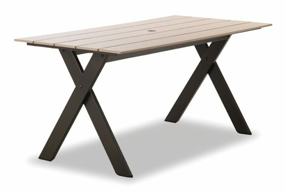 Plymouth Bay Aluminum Dining Table by Telescope Casual