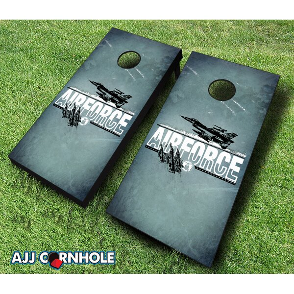10 Piece US Air Force Imprint Cornhole Set by AJJ Cornhole