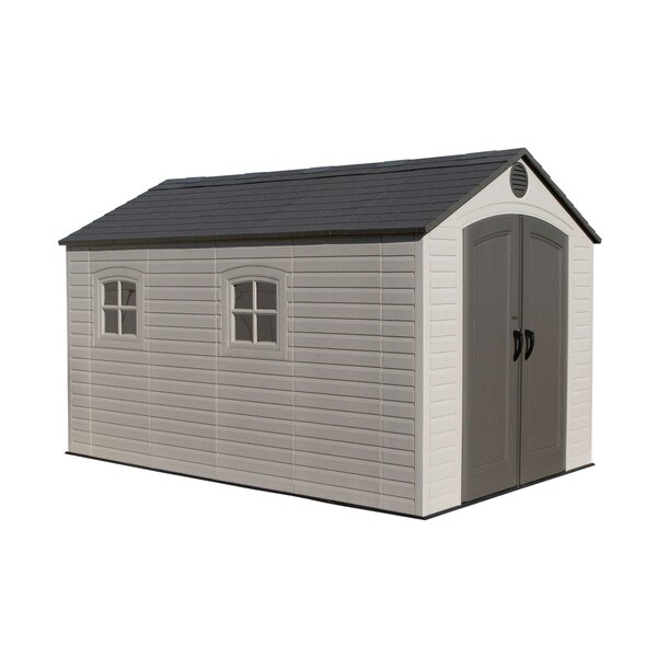 8 ft. W x 12 ft. 5 in. D Plastic Storage Shed by Lifetime