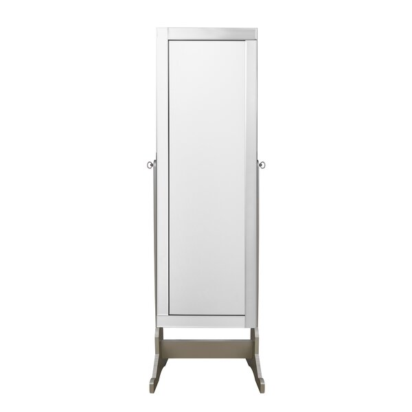 Dazzle Full Length Jewelry Armoire with Mirror by Inspired Home Co.
