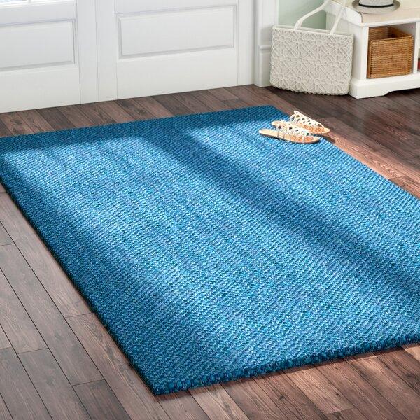Emery Hand-Woven Blue Area Rug by Highland Dunes