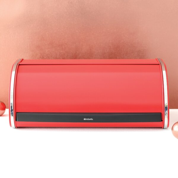 Roll Top Bin Brilliant Steel Bread Box by Brabantia