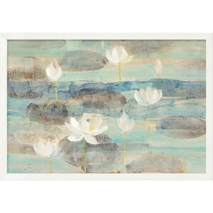 'Water Lilies' Oil Painting Print on Canvas by East Urban Home