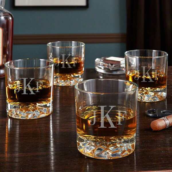 Fairbanks Personalized 11.5 oz. Whiskey Glass (Set of 4) by Home Wet Bar