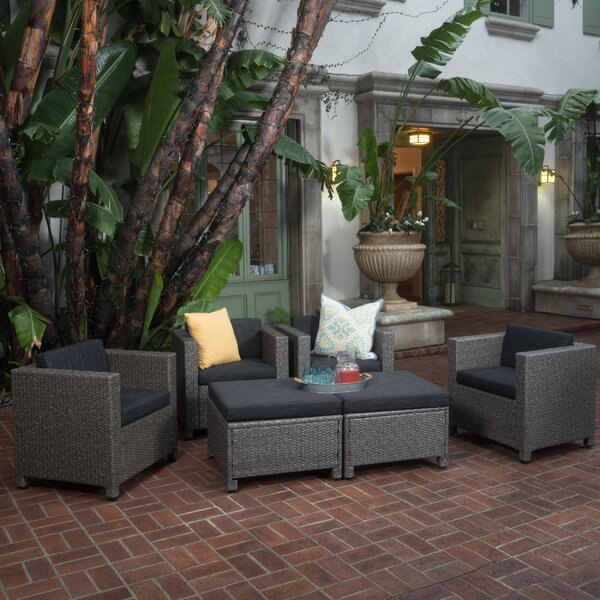 Furst 6 Piece Sofa Set with Cushions by Wade Logan