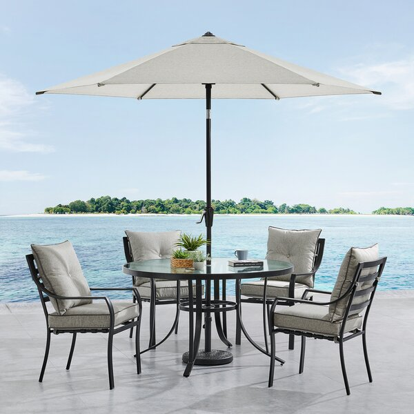 Bozarth 5 Piece Dining Set with Cushions by Darby Home Co