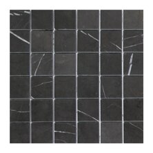 2 x 2 Marble Mosaic Tile in Graphite