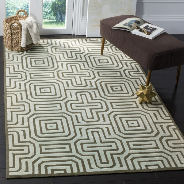 Springfield Hand-Hooked Brown Area Rug by Langley Street