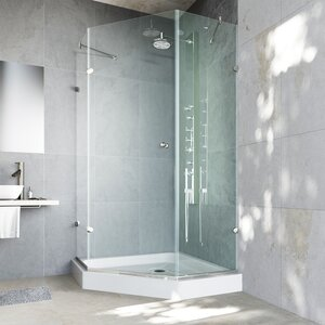 Verona 36 x 36-in. Frameless Neo-Angle Shower Enclosure with .375-in.