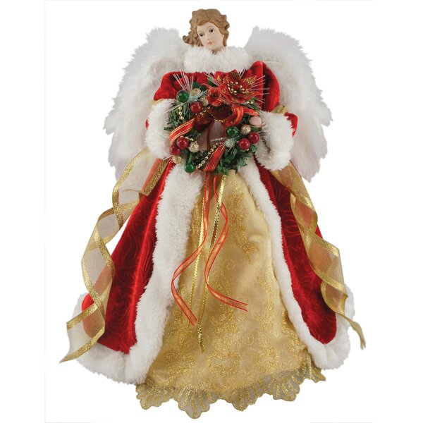 16 Fiber Optic Christmas Angel Tree Topper by The Holiday Aisle