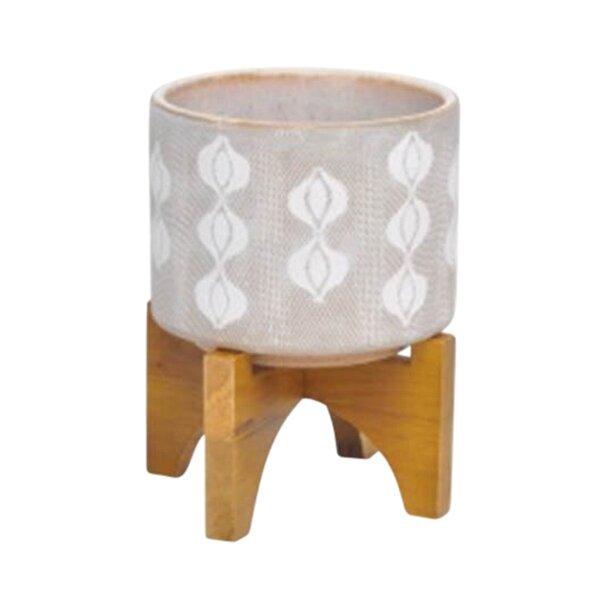 Fiecke Graphic Designer Ceramic Pot Planter by Bungalow Rose