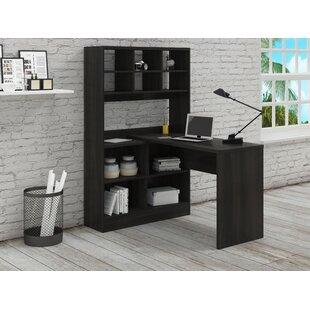 Yeadon L-Shape Writing Desk with Hutch by Latitude Run
