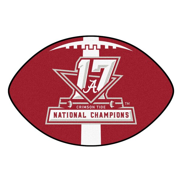 NCAA Red/White Area Rug by FANMATS