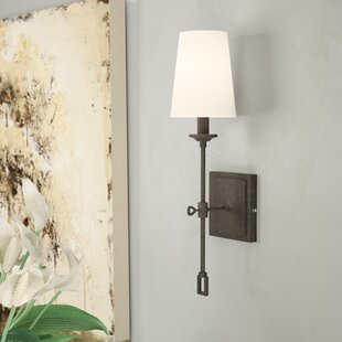 Sconces youll love wayfair jaune 1 light wallchiere mozeypictures Image collections