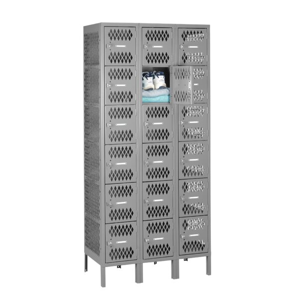 6 Tier 3 Wide Employee Locker by Tennsco Corp.