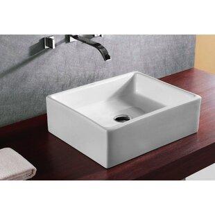 Find the perfect Ceramica Ceramic Rectangular Vessel Bathroom Sink By Caracalla
