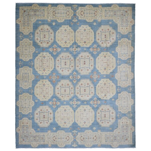 One-of-a-Kind Courtdale Pakistan Peshawar Oriental Hand-Woven Wool Light Blue/Beige Area Rug by Isabelline