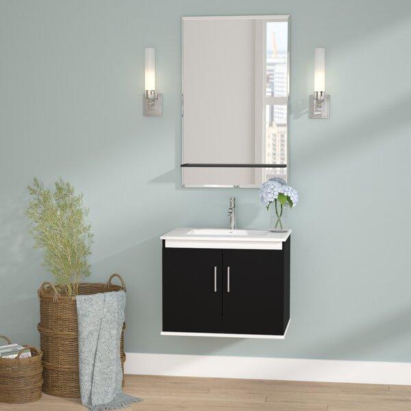 Brizendine 24 Single Vanity Set with Mirror by Wade Logan