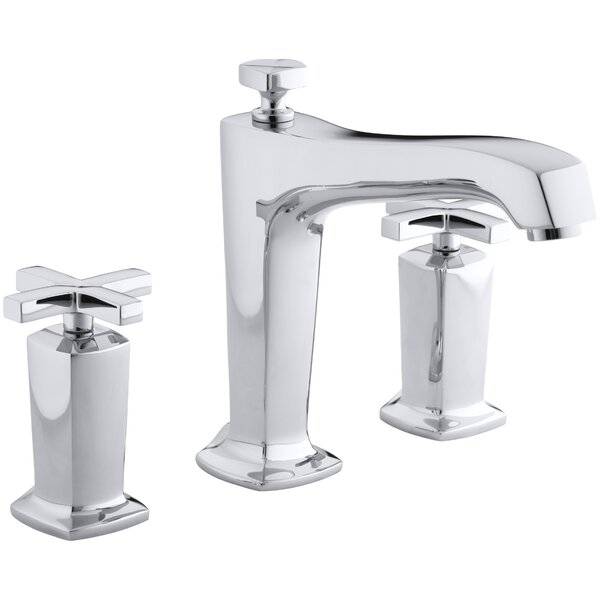Margaux Deck-Mount Bath Faucet Trim for High-Flow Valve with Diverter Spout and Cross Handles, Valve Not Included by Kohler