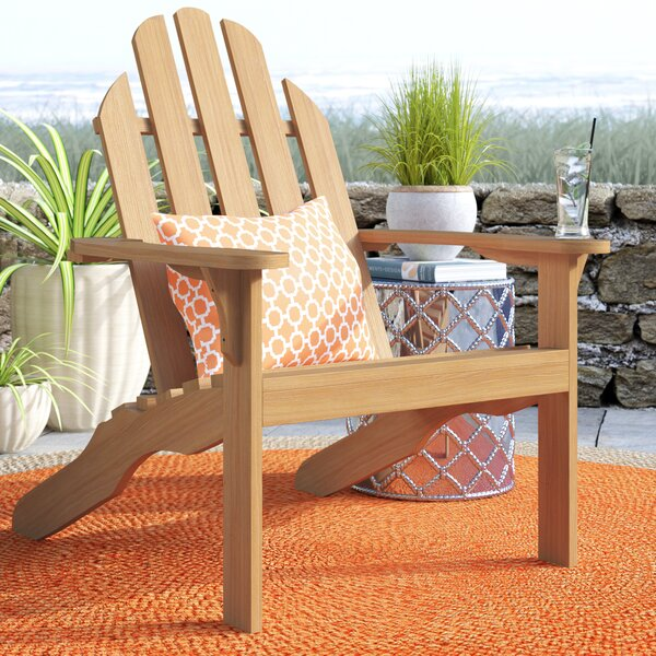 Myrtle Avenue Teak Adirondack Chair by Beachcrest Home