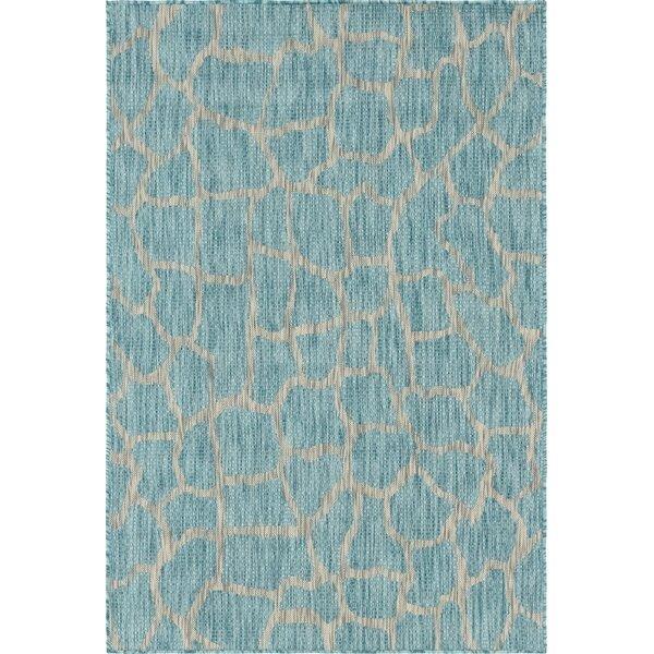 Murrell Blue/Gray Indoor/Outdoor Area Rug by House of Hampton