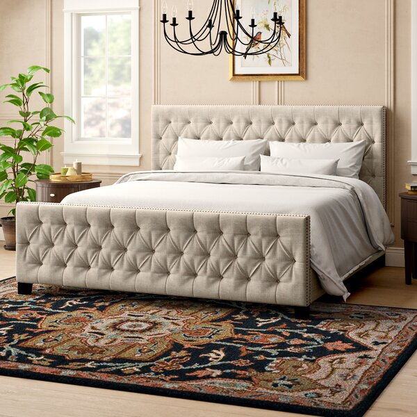 Allison Upholstered Platform Bed by Three Posts