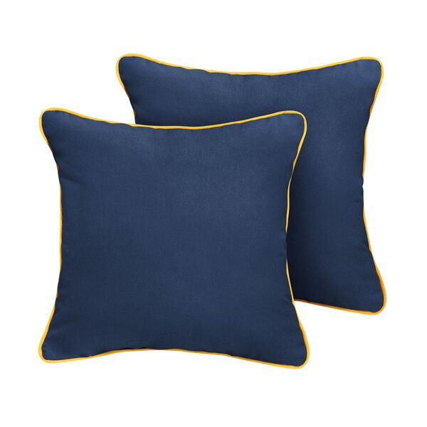 Bellmore Sunbrella Outdoor Throw Pillow (Set of 2) by Rosecliff Heights