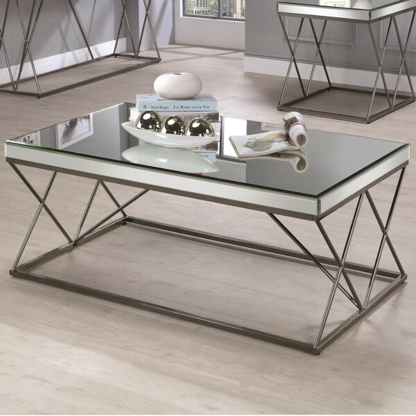 Kellogg Modern Mirrored Coffee Table By Mercer41