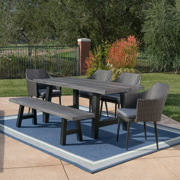 Dismuke Outdoor 6 Piece Dining Set with Cushions by 17 Stories