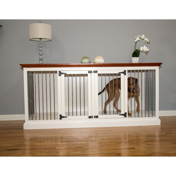 Brooke Double Wide Large Credenza Pet Crate by Archie & Oscar