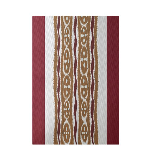 Stripe Rust Indoor/Outdoor Area Rug by e by design
