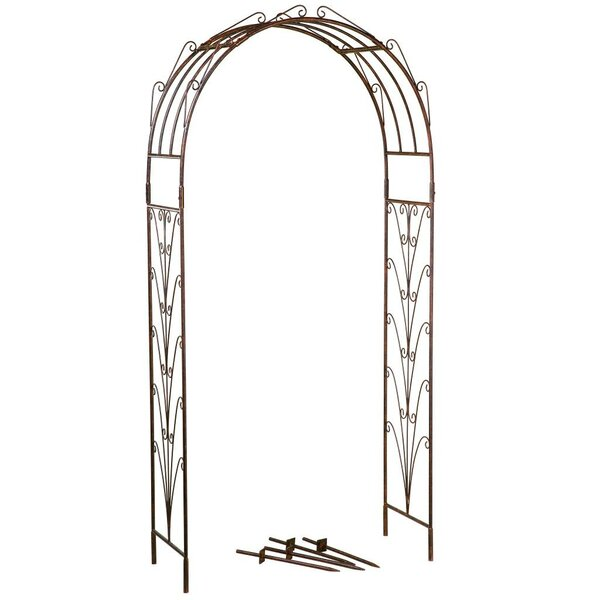 Starburst Arch Iron Arbor by DEER PARK®