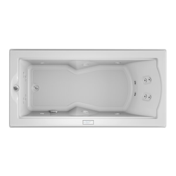 Fuzion Chroma Whisper Left-Hand 72 x 36 Drop-In Whirlpool Bathtub by Jacuzzi®
