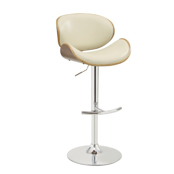 Basso Adjustable Height Bar Stool by Mercury Row