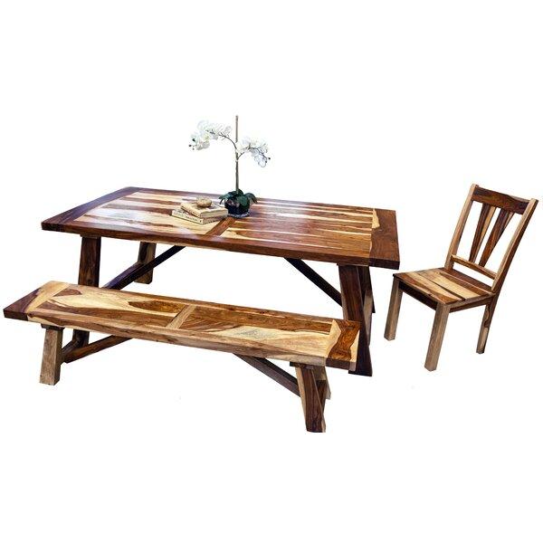 Cassidy 3 Piece Solid Wood Breakfast Nook Dining Set by Loon Peak Loon Peak