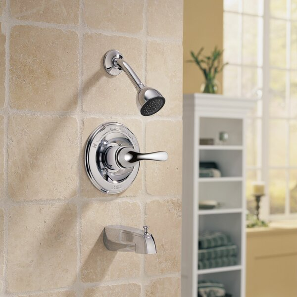 Other Core Diverter Tub and Shower Faucet Trim with Lever Handles and Monitor by Delta