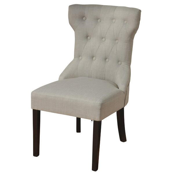 Isley Button Tufted Upholstered Dining Chair by Alcott Hill