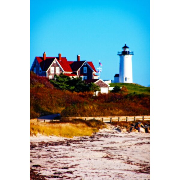 Nobska Lighthouse Portrait by Jobe Waters Photographic Print on Wrapped Canvas by Buy Art For Less