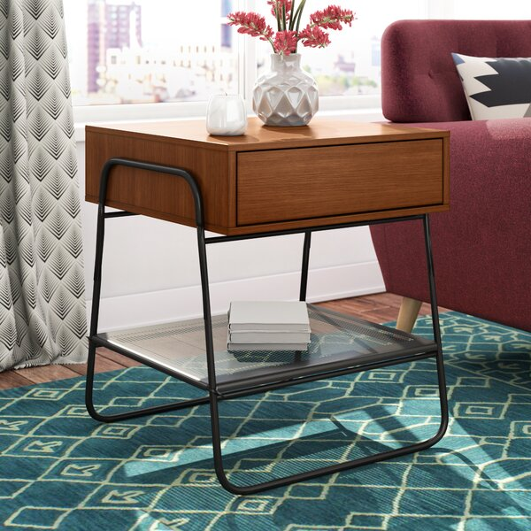 Delphos End Table with Storage by Ivy Bronx