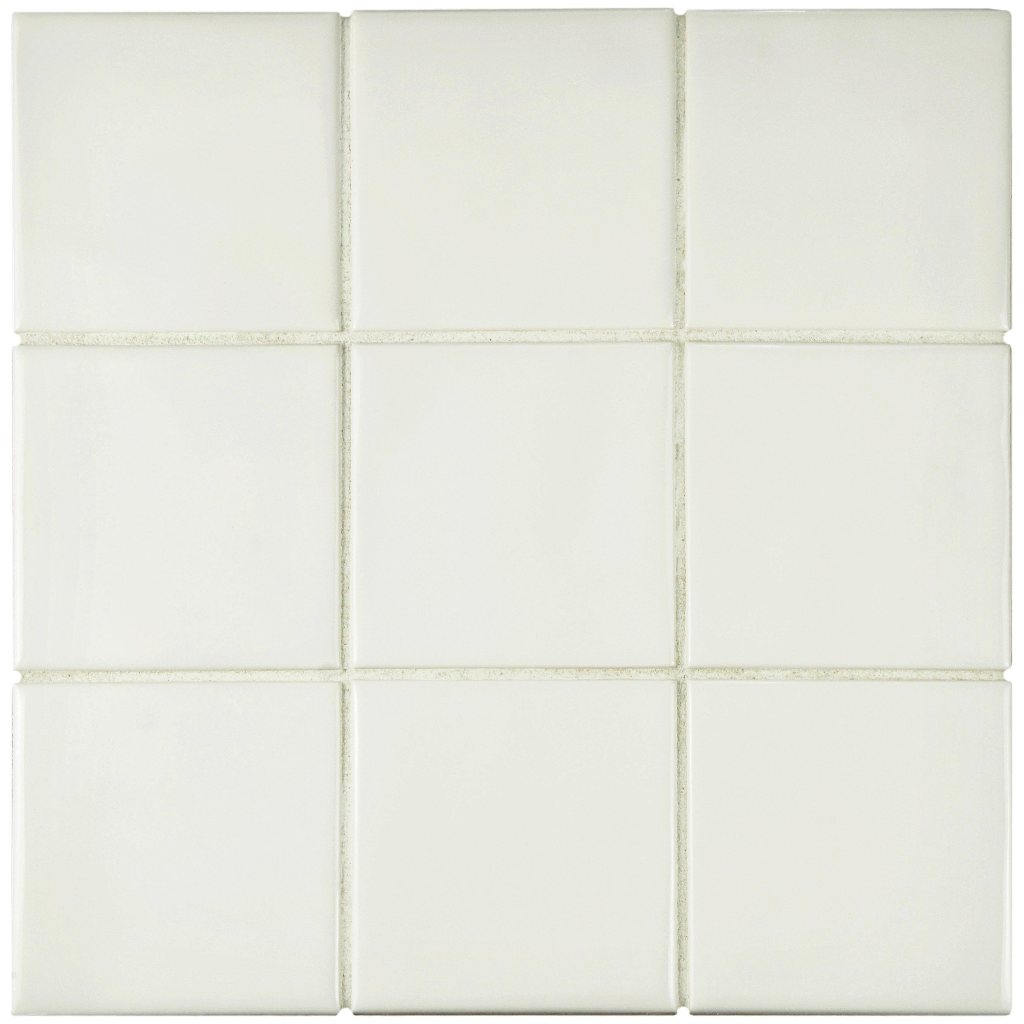 Elitetile Contour Square 375 X 375 Ceramic Field Tile In Soft