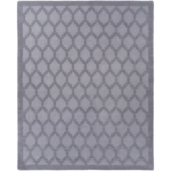 Bracey Hand-Loomed Gray Area Rug by Wrought Studio